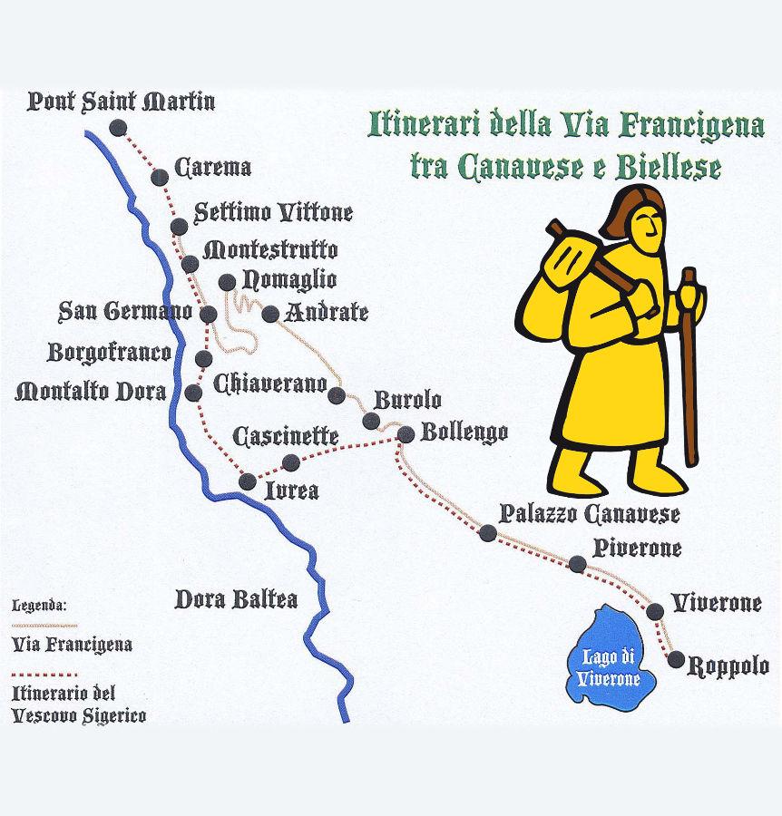 mappa-via-Francigena-Canavese